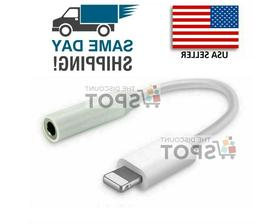 For Apple Lightning to 3.5MM Headphone jack adapter dongle F