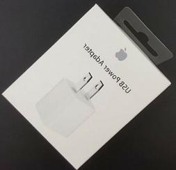 Authentic Apple OEM 5W USB Wall Charger Cube Power Adapter i