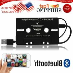 Bluetooth 4.0 Car Audio Stereo Cassette Tape Adapter To Aux