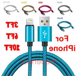 Braided USB Charger Cable Sync Cord For iPhone 6s 7 8 Plus X
