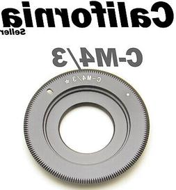 C Mount Lens to Micro 4/3 M4/3 43 Adapter G1 GH1 E-P1 G2 G10