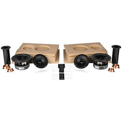 Parts Express C-Note MT Bookshelf Speaker Kit Pair with Knoc