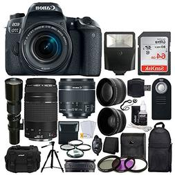 Canon EOS 77D DSLR Camera + Canon EF-S 18-55mm is STM Lens +