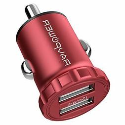 Car Charger RAVPower 24W 4.8A Mini Dual USB Car Adapter with