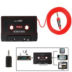 Car Tape Cassette to AUX Audio Adapter Converter 3.5mm for i