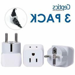Ceptics USA to Schuko Germany, France, Russia Travel Adapter