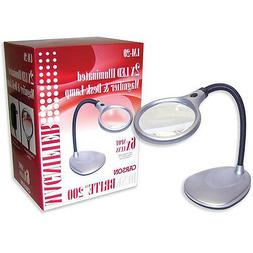 Carson DeskBrite 200 LED Illuminated 2X Magnifier & Desk Lam