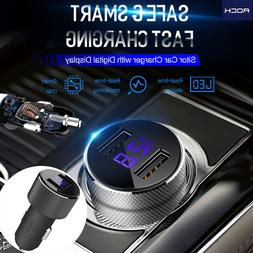 Rock Digital Sitor Car Charger 3.4A Dual USB Adapter For iPh