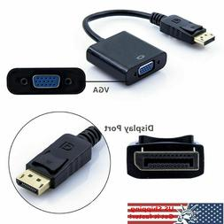 Display Port  DP to VGA Adapter Cable cord 1080P for laptop