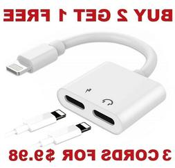 Dual Adapter for iPhone 2 in 1 Headphone & Charger for Apple