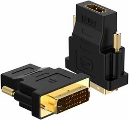 DVI-D Dual Link 24+1 Male to HDMI Female Audio Video Adapter