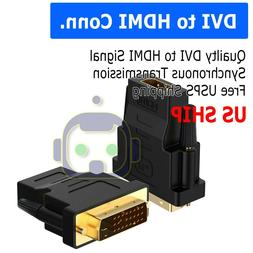 DVI-D Male  to HDMI Female  HD HDTV Monitor Display Adapters