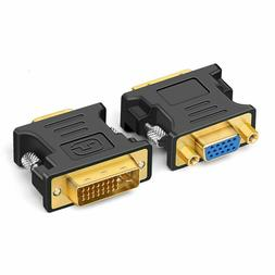 DVI-I male Analog  to VGA Male  Connector Adapter NEW USA