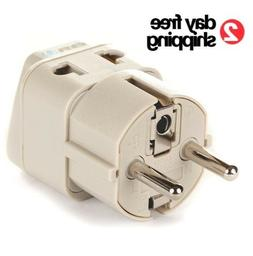 Electric Power Adapter for Europe Plugs Usa to Eu American T