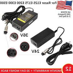 For Razor Electric Skip Scooter Battery Charger e125 e175 e2
