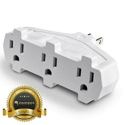 Fosmon  3 Outlet Indoor Wall Tap Adapter AC Mini Plug Phone
