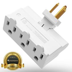 Fosmon  Grounded Swivel 3 Outlet Indoor Wall Tap Power Strip