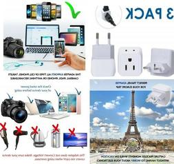 European Adapters Travel Plug Adapter Charger Dual USA taly