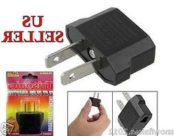 European EU 220V  to 110V Travel Flat Plug Charger Adapter C