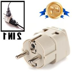 European Plug Travel Adapter Electric Outlet Schuko E/F for