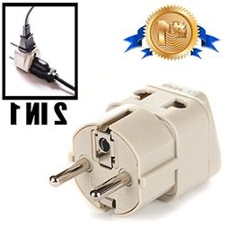 European Plug Travel Adapter Electric Outlet Schuko Type E/F