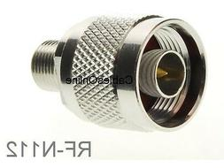 F-Type Female to N-Type Male Antenna RF Adapter, CablesOnlin