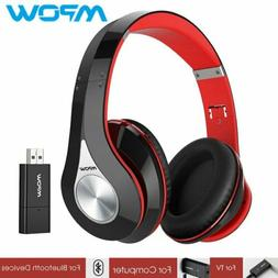 Mpow Foldable On-Ear Stereo Wireless Bluetooth Headset Headp