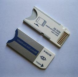 Genuine Sony Memory Stick Pro Duo MS Adapter + Plastic Case,