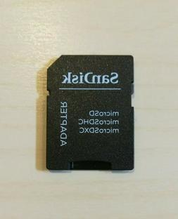 Genuine Sandisk Micro SD to SD HC SDHC Memory Card TF Adapte