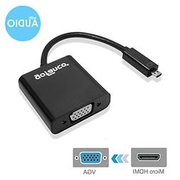 gofanco Active Micro HDMI to VGA Adapter with Audio  & 3Ft M