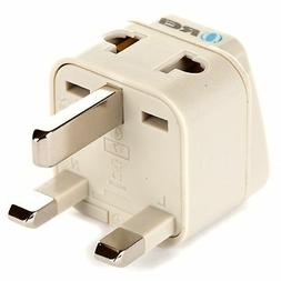 OREI Grounded Universal 2 in 1 Plug Adapter Type G for UK Ho
