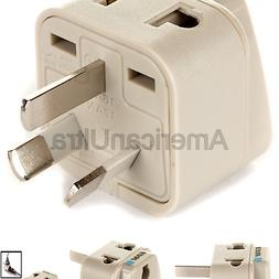 OREI Grounded Universal 2 in 1 Plug Adapter Type I for Austr