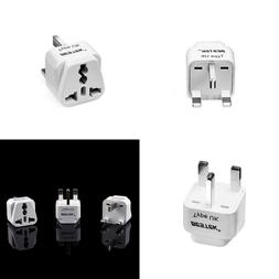Grounded Universal Plug Adapter Travel Kit For USA To UK Ire