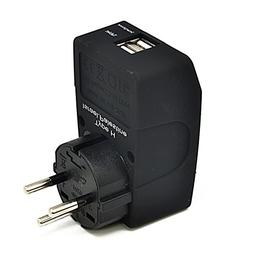 Ceptics Type H 2 USB Israel Travel Adapter 4 in 1 Power Plug
