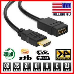 HDMI Extension Cable Male to Female HDMI Cable Extender Adap