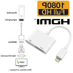 HDMI Mirroring Cable Phone to TV HDTV Adapter For iPhone XR
