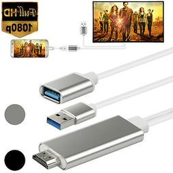 HDMI Mirroring Cable Phone to TV HDTV Adapter For iPhone Sam