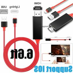 HDMI Mirroring Cable Phone to TV HDTV Adapter For iPhone 6 7