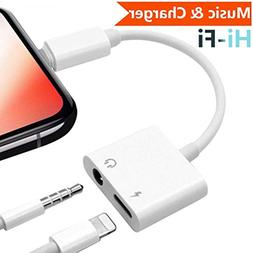 Adapter 3.5mm Aux Headphone Jack Adaptor Charger for iPhone