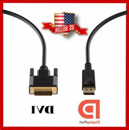 High Speed Displayport DP Male To DVI-D Male Cable Adapter F