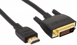 HL-007346 DVI to HDMI Adapter Cable - 3 Feet 1-Pack