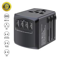 International travel adapter, MINGTONG 4 USB worldwide unive