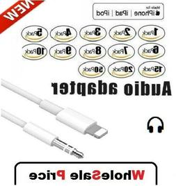 For iPhone 7 8 Plus X XR 11 12 Pro 8 Pin to 3.5mm AUX Audio