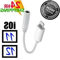 FOR iPhone 7 8 X Headphone Adapter Jack Lightning to 3.5mm C