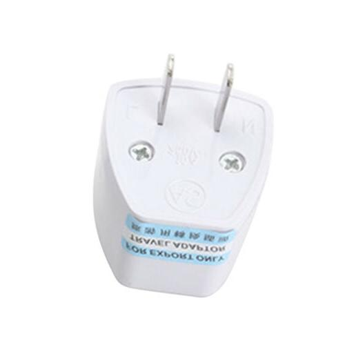1*White Electricity Adapter US to EU for US WB15