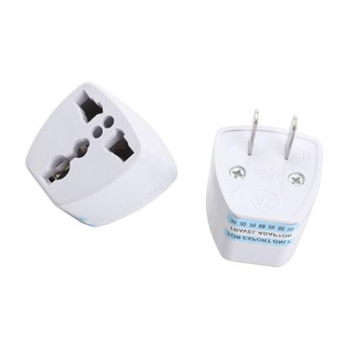 1*White Electricity Adapter to EU Plug for WB15