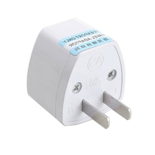 1*White Electricity Adapter US to Converter for US WB15