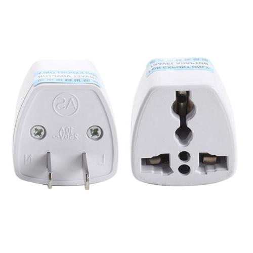 1 white electricity adapter us to eu