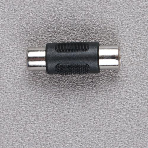 10 Pcs RCA Audio Video to Coupler Adapter Connector