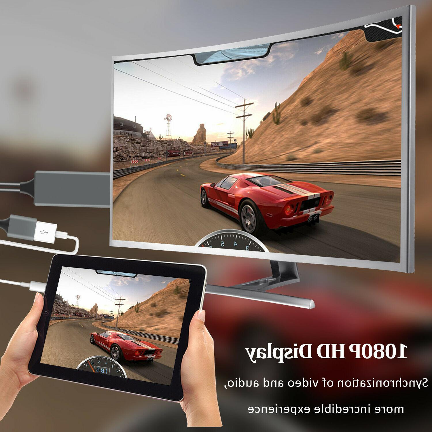 1080P Phone to Adapter For iPhone/Samsung/iPad/Android
